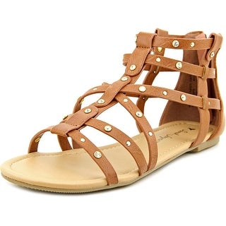 Sarah Jayne Shelly Youth Open Toe Synthetic Brown Gladiator Sandal