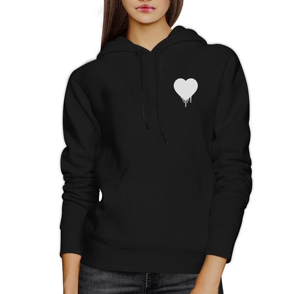 Melting Heart Unisex Hoodie Heart Design Cute Pocket Size Graphic