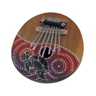 Hand Crafted Coconut and Wood 7 Key Sea Turtle Mbira Thumb Piano