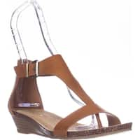 Kenneth Cole REACTION Great Gal T-Strap Wedge Sandals, Toffee