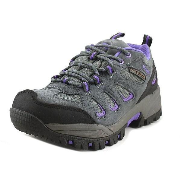 Propet Ridge Walker Low Women Round Toe Suede Gray Hiking Shoe