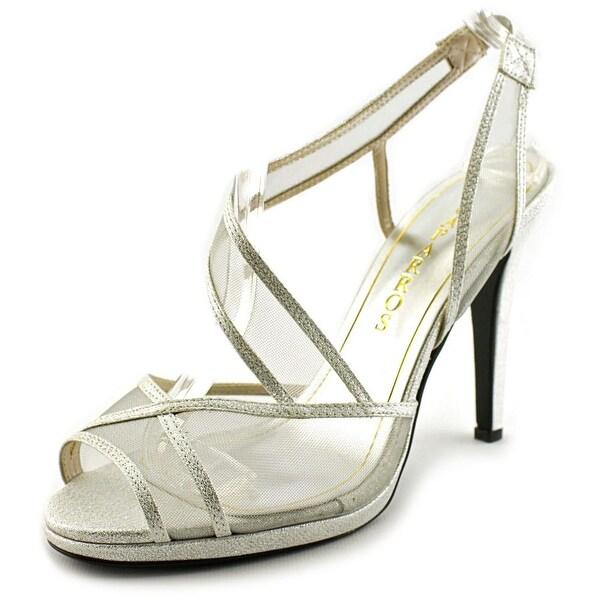 Caparros Sunshine Women Open-Toe Synthetic Silver Slingback Heel