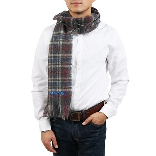 Missoni Gray/Red Checkered Scarf - Grey - 32478