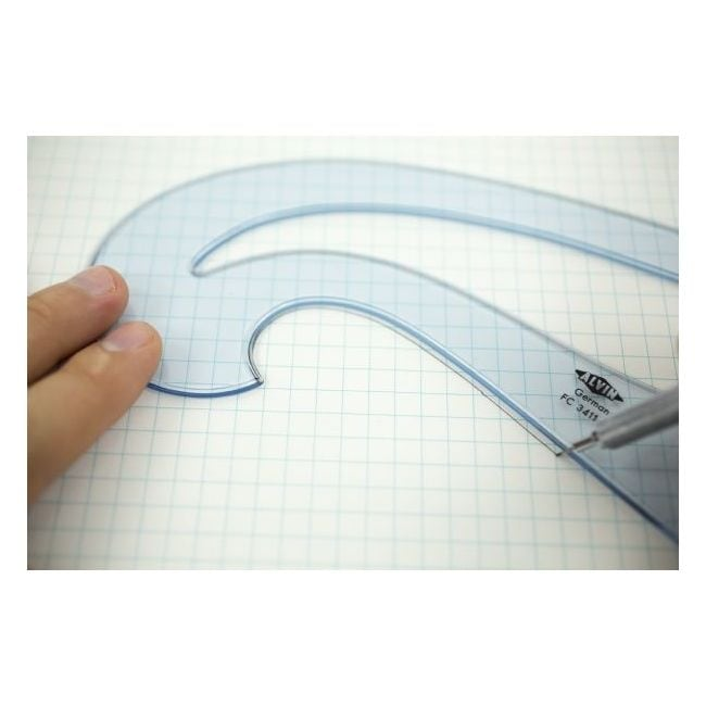 ALVIN FC88 FRENCH CURVE SET OF 8