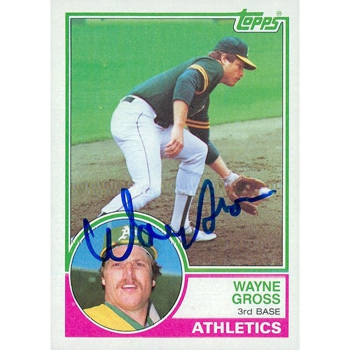 Signed Gross Wayne Oakland Athletics 1983 Topps Baseball Card Autographed