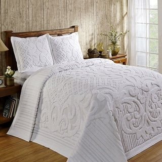 Link to Better Trends Ashton Collection in Medallion Design 100% Cotton Tufted Unique Luxurious Machine Washable Tumble Dry Similar Items in Bedspreads
