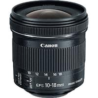 Canon EF-S 10-18mm f/4.5-5.6 IS STM Ultra Wide Zoom Lens - Black