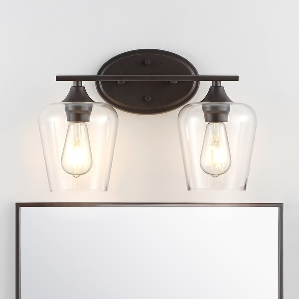 Jayne Iron/Glass Cottage LED Vanity Light, Orb by JONATHAN Y. Opens flyout.
