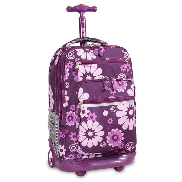 J World New York Sundance Rolling Backpack, Flower Purple