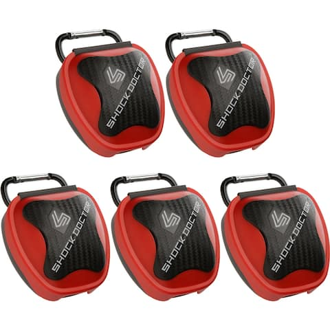 Shock Doctor 5-Pack Mouthguard Case - Red - One Size