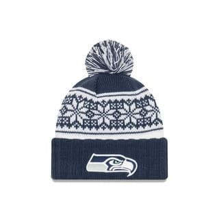 Seattle Seahawks Snowy Pom Women's Beanie https://ak1.ostkcdn.com/images/products/is/images/direct/d18d257d715dfd6575c0e17e81416a8b9e78a02b/Seattle-Seahawks-Snowy-Pom-Women%27s-Beanie.jpg?impolicy=medium