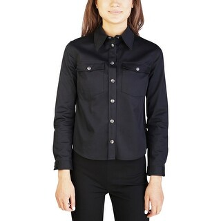 Miu Miu Women's Cotton Blouse Shirt Black