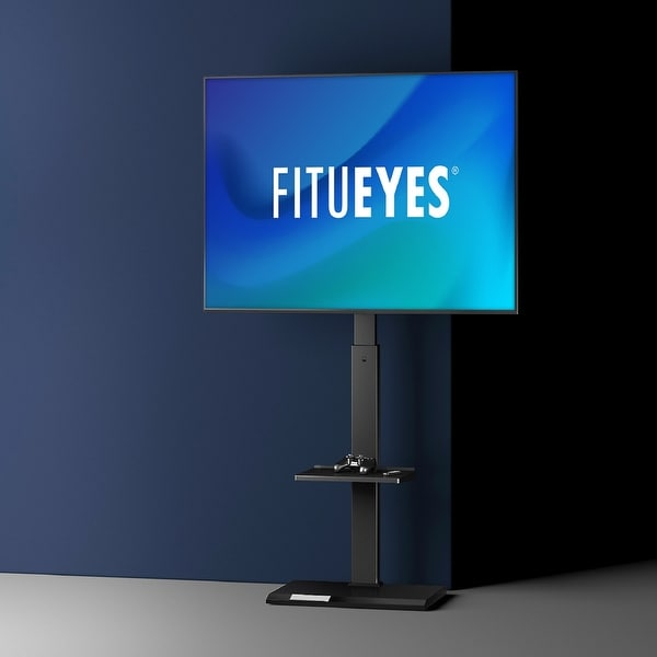 FITUEYES Floor TV Stand Height Adjustable Swivel Mount Up to 65 inches. Opens flyout.