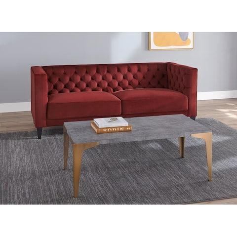 Lifestorey Modern Chesterfield Back Sofa