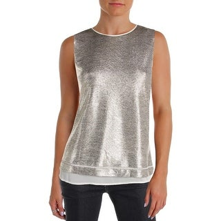 Calvin Klein Womens Petites Shell Layered Metallic