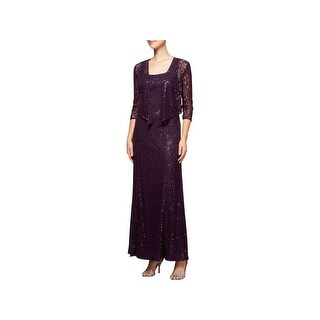 Alex Evenings Womens Dress With Jacket Special Occasion Special Event