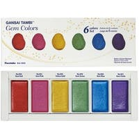 Kuretake Gansai Tambi 6 Color Set-Gem Colors