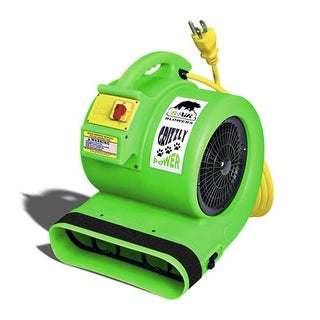B-Air Dryers GP-1-C-UL-US Green Grizzly 1 HP Carpet Dryer- Air mover
