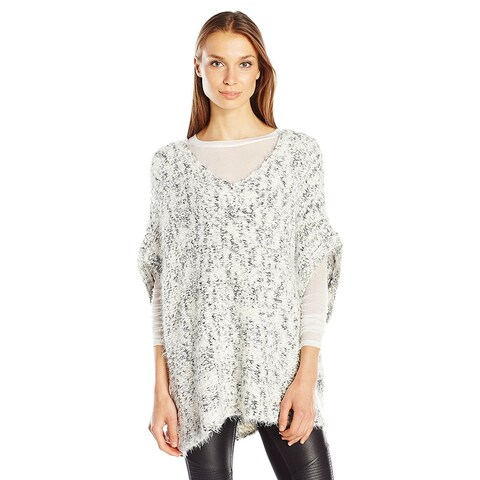 Guess Bernyce Textured Sweater Poncho Scuffy Multi - One size