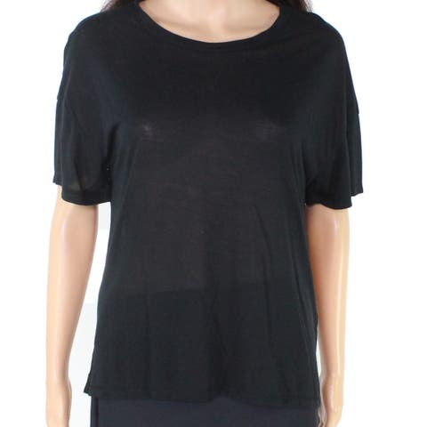Project Social T Women's Blouse Black Size Small S Scoop Neck High Low