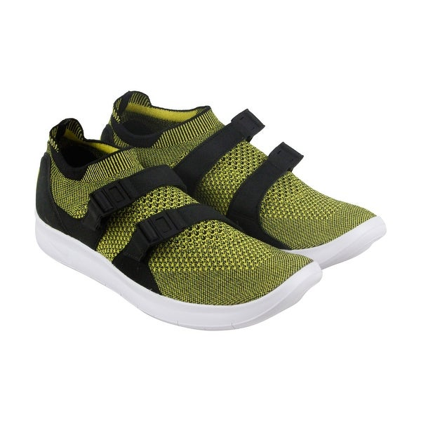 Nike Air Sockracer Flyknit Mens Green Textile Athletic Slip On Running Shoes