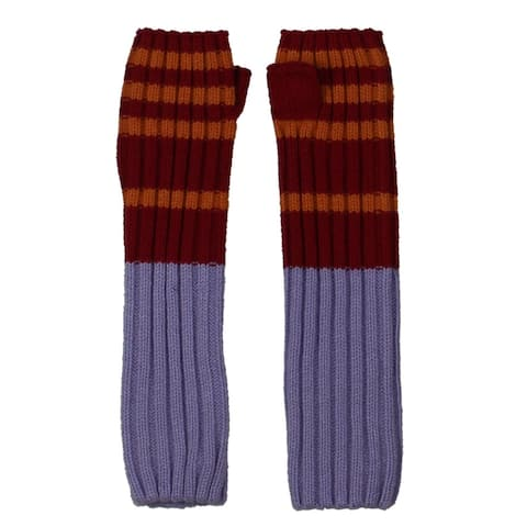 Free People Womens Arm Warmers Striped Winter - O/S
