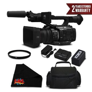 Panasonic AG-UX180 4K Premium Professional Camcorder (Intl Model) Bundle w/ 2 Year Extended Warranty