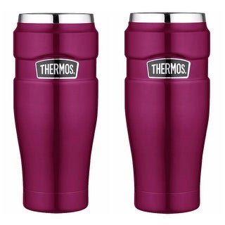 Thermos Stainless King Vacuum Insulated 16oz Travel Tumbler Pink - 2PK