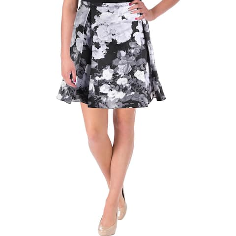 Xscape Womens A-Line Skirt Taffeta Printed