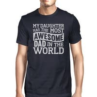 The Most Awesome Dad Men's Funny Fathers Day Gift T Shirt For Him