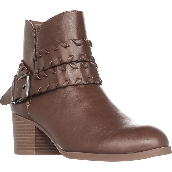 SC35 Dyanaa Stitched Harness Ankle Boots, Barrel