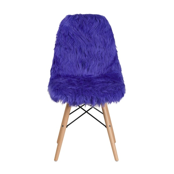Shop Offex Contemporary Faux Fur Upholstery Shaggy Dog Accent Chair