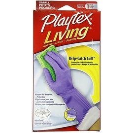Playtex Living Drip-Catch Cuff Gloves, Small 1 Pair