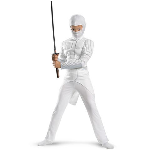 Disguise GI Joe Retaliation Storm Shadow Classic Muscle Child Costume - White