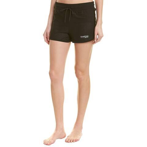 Bebe Sport Solid Pinhole Mesh Short