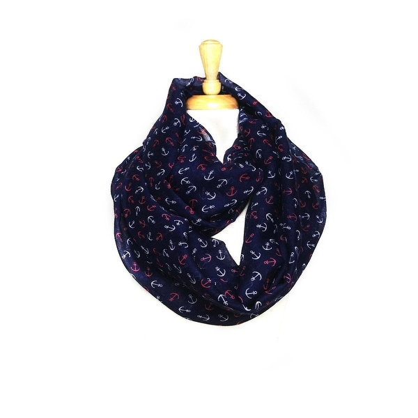 Anchors Light Weight Soft Large Infinity Scarf
