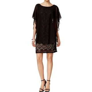 R & M Richards Womens Cocktail Dress Lace Sequined