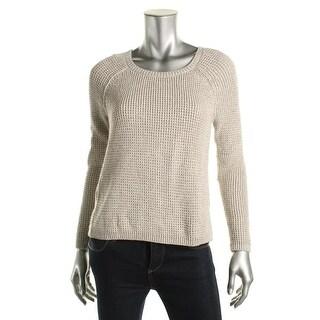 Rachel Roy Womens Metallic Flyaway Pullover Sweater - S