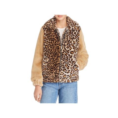 Vigoss Womens Bomber Jacket Winter Faux Fur