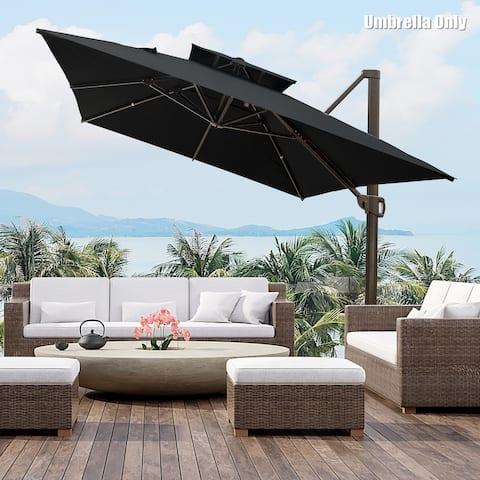 10 x 13 Feet Outdoor Offset Cantilever Hanging Patio Umbrella