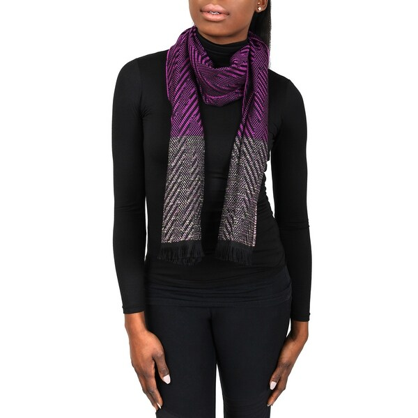 Missoni SC12WMD5855 0001 Purple Wool Blend Womens Scarf - 14.25 -72