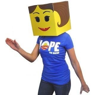 Female Yellow Brickman Costume Box Head
