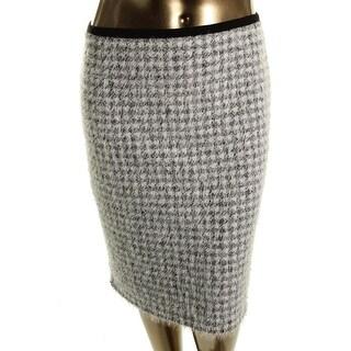 Calvin Klein Womens Straight Skirt Geometric Eyelash