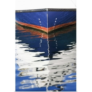 """Reflection of boat in water"" Poster Print"