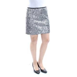 SANCTUARY $89 Womens New 1063 Silver Sequined Pencil Skirt S B+B