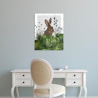 Easy Art Prints Fab Funky's 'Cabbage Patch Rabbit 2' Premium Canvas Art