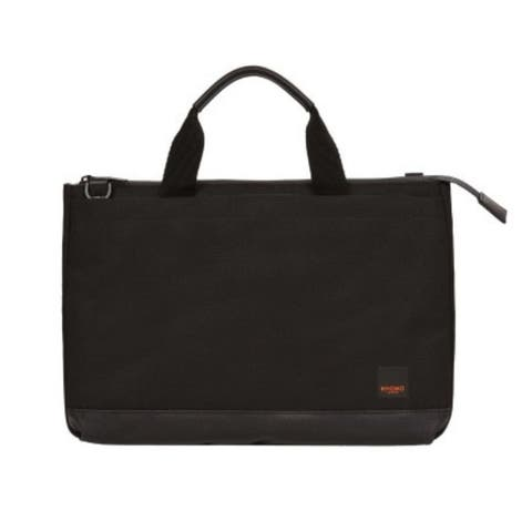 Knomo London Shoreditch Top Zip 12-Inch. Tablet/Laptop Slim Brief Case - Black
