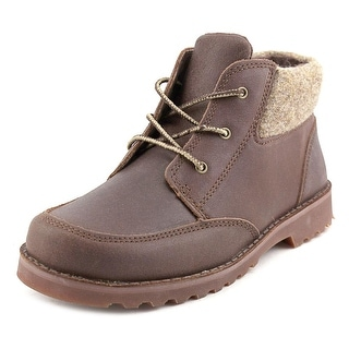 Ugg Australia Orin Youth Round Toe Leather Brown Boot
