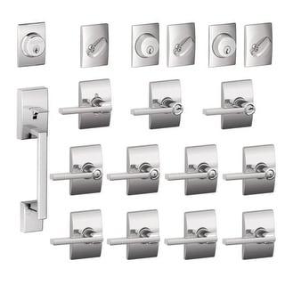 schlage f600cenlat century complete house door hardware package with latitude interior levers - Schlage Door Hardware