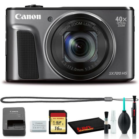 Canon Powershot SX720 Digital Camera (Black) (Intl Model) Includes